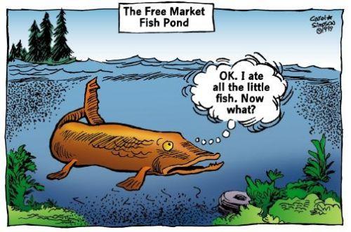 Resultado de imagen de competition monopoly pond fish