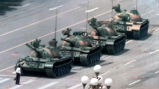Tank man propaganda