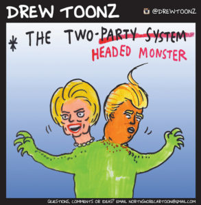 trump-and-clinton-monster